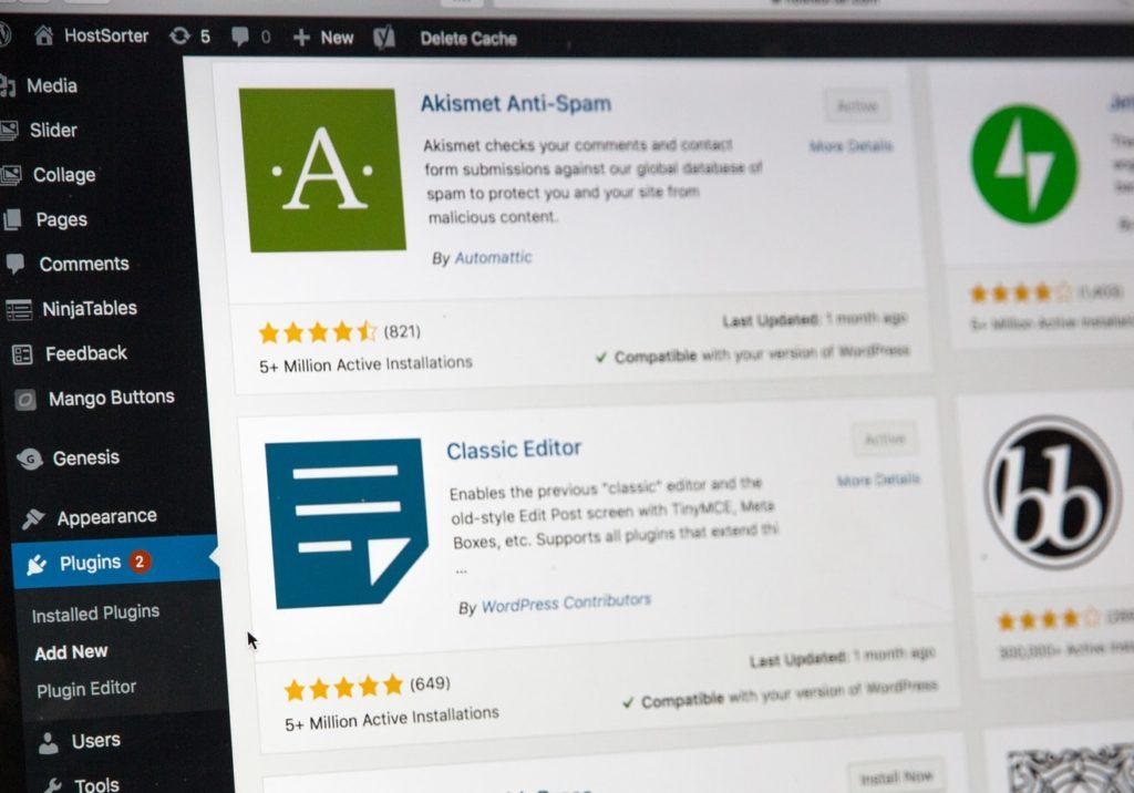WordPress screenshot showing the best way to build a website