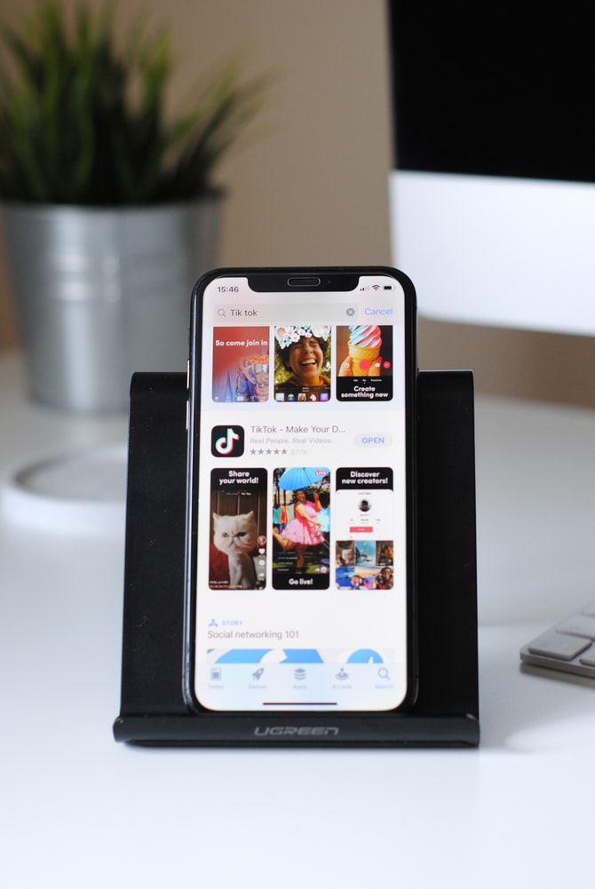 Image of smartphone on app store