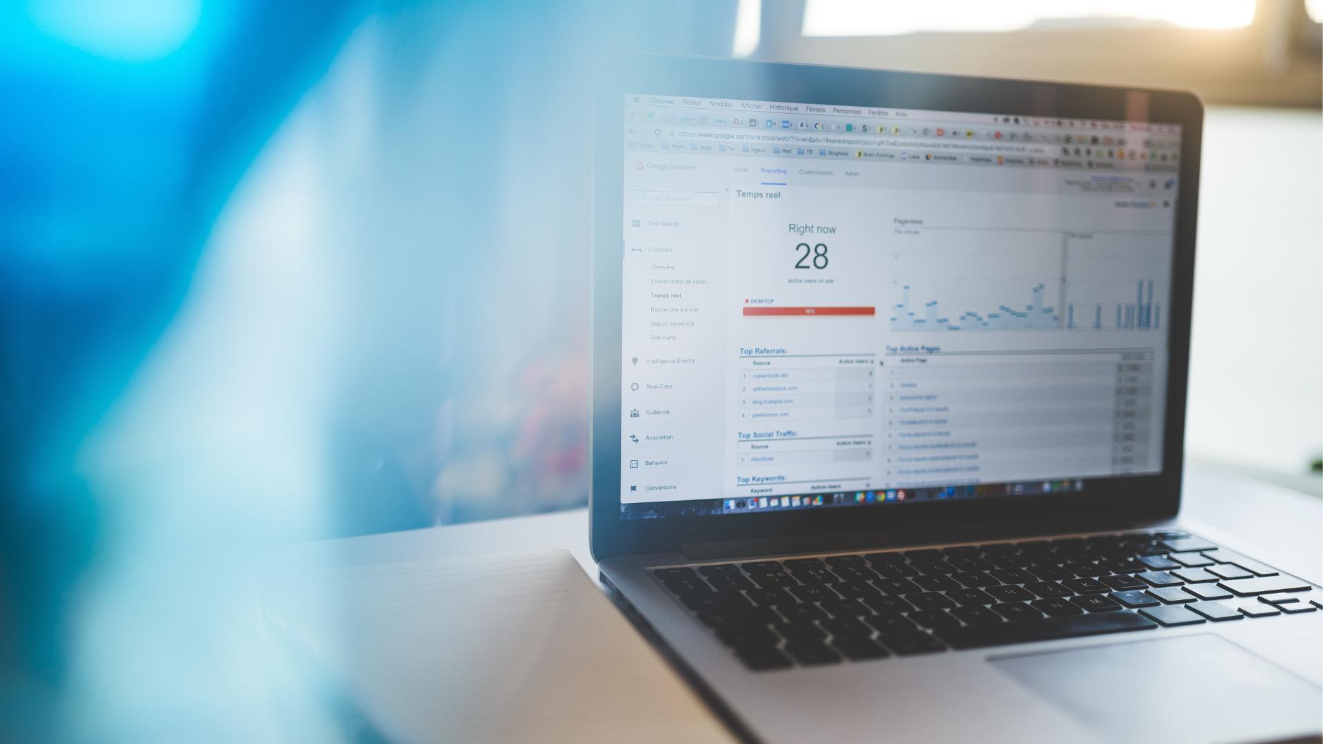 social media analytics metrics on screen