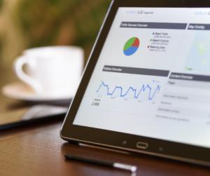 Google Analytics result on a tablet for e-commerce conversion optimisation