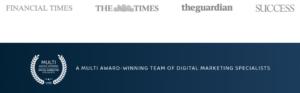 A screenshot of PrimePixels website showing social proof through partners