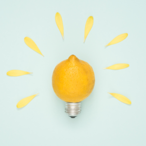 A lemon representing an idea for content batching