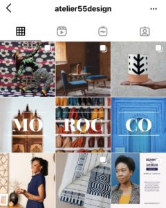 A screenshot of a line of 3 used to plan an Instagram feed