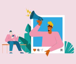 An illustration of influencer marketing