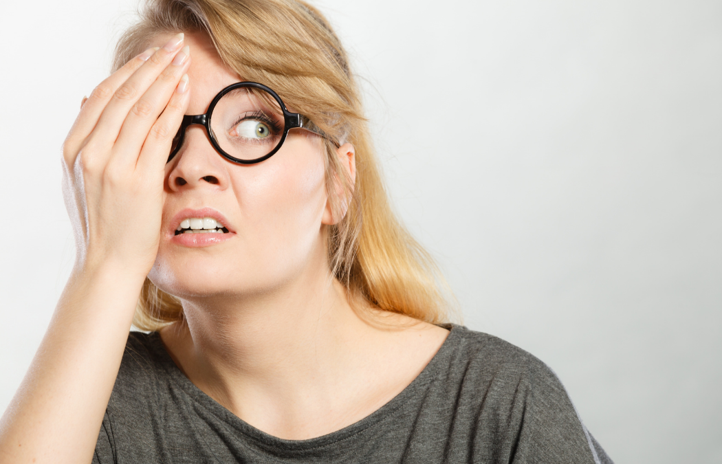 A woman hiding from the worst digital marketing mistakes