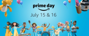A screenshot of Amazon Prime Day back-to-school campaign
