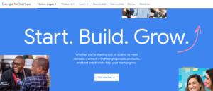A screenshot of Google Startup as a free Google tool