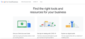 A screenshot of Google for Small Business