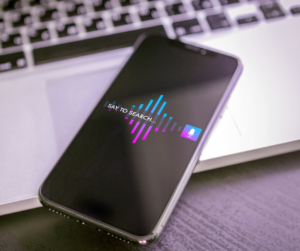 A smartphone using voice marketing
